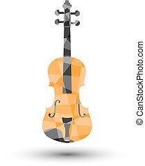 fond, blanc, vecteur, illustration, violon