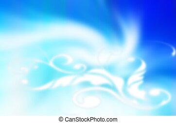 fond, bleu