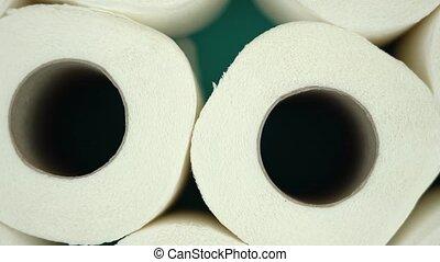 fond, bleu, toilette roule, papier