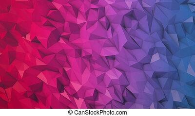 fond, boucle, bas, couleur, polygone, double