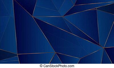 fond, bronze, bleu, mouvement, bas, poly, géométrique