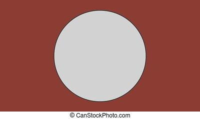 fond, brun, contre, cercle