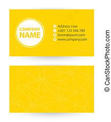 fond, business, résumé, jaune, website., adresse, téléphone, courrier, revêtu, carte, icône
