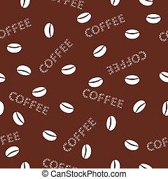 fond, café, vecteur, seamless, illustration