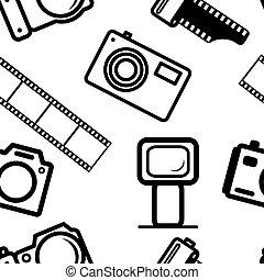 fond, cameras, seamless, numérique