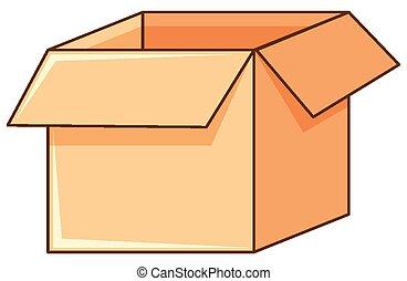 fond, carton, blanc, boîte