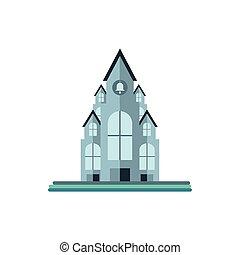 fond, catholique, blanc, église