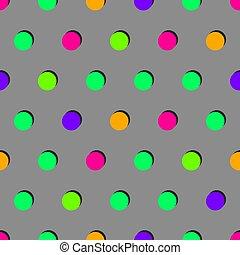 fond, cercles, coloré