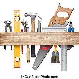 fond, charpenterie