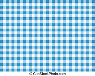 fond, checkered, tablecloth.
