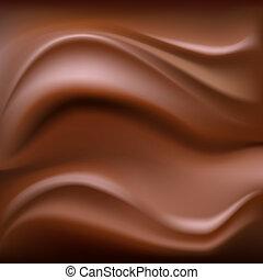 fond, chocolat