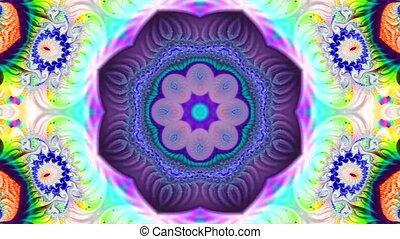 fond, clair, spirales, résumé, divers, fractal, shimmers, multicolore