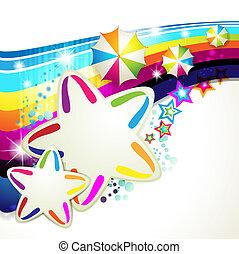 fond, coloré, étoiles