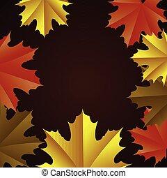 fond, coloré, thanksgiving
