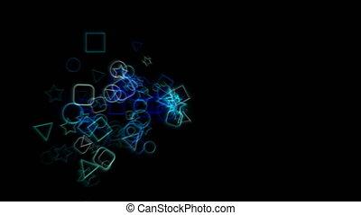 fond, colorfull, géométrique