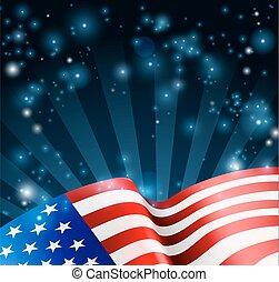 fond, conception, drapeau, américain