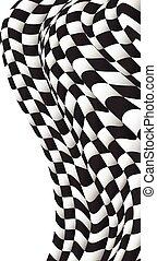 fond, conception, drapeau checkered, course