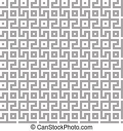 fond, conception géométrique, blanc, pattern., seamless, labyrinthe, résumé, argent