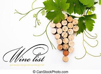 fond, concevoir, a, vin, liste