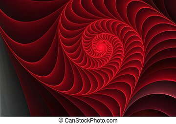 fond, coquille, élément, spirale, illustration