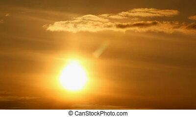 fond, coucher soleil