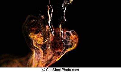 fond couleur, alpha, boucle, complexe, lent, matte., particules, animation, advection, viscous, ruisseaux, canal, brûler, fluide, 27, classé, turbulence, luma, deph, simulation, mouvement, 4k, tournoiement