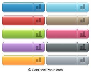 fond, couleur, menu, aligner, icônes, rectangulaire, lustré...