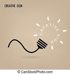 fond, créatif, ampoule, lumière, idée, concept