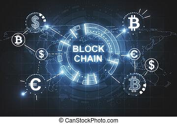 fond, créatif, blockchain