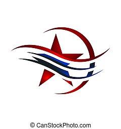 fond, décoratif, vecteur, icône, etoiles filantes, étoile, blanc