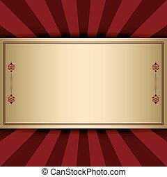 fond, décoratif, vecteur, rouges, rayons, vendange, cadre