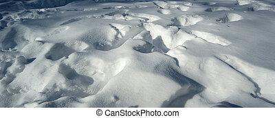 fond, dérive, paysage neige