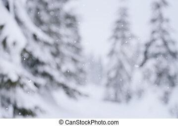 fond, defocus, conception, hiver