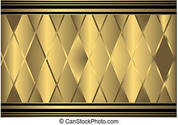 fond, doré, géométrique