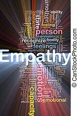 fond, empathie, concept, incandescent