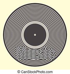 fond, enregistrement, vinyle