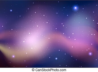 fond, espace, créativité, nebula., vecteur, étoiles, ton