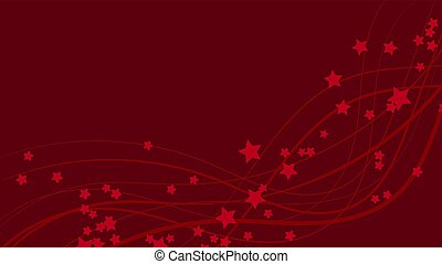 fond, espace, résumé, lignes, clair, ondulé, étoiles, asterisks., rouges, coloré