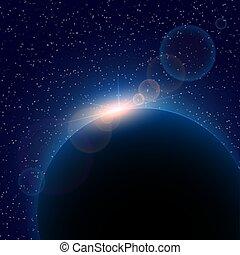 fond, espace, résumé, noir, étoiles, blanc