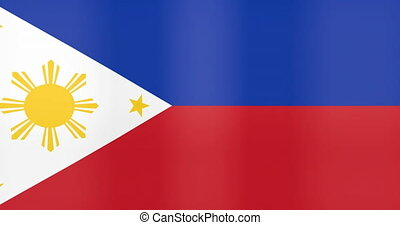fond, faire boucle, drapeau, philippines, onduler