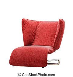 fond, fauteuil, doux, rouges, 3d, blanc