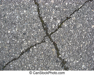 fond, fissures, asphalte