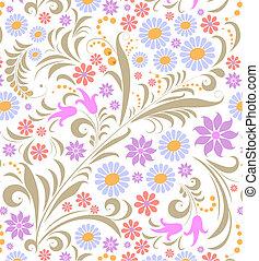 fond, fleur, blanc, coloré