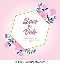 fond, fleurs roses, mariage, date, salutation, nature, carte, sauver, fleurir