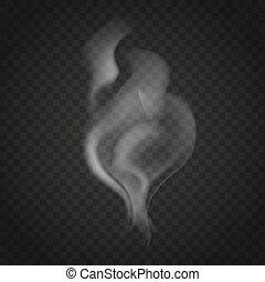 fond foncé, isolé, fumée, transparent