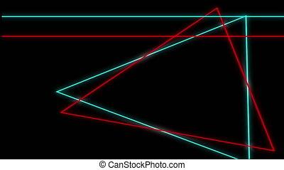 fond, formes, noir, géométrique