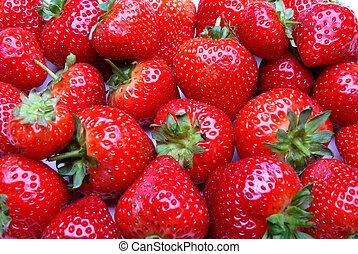 fond, fraise