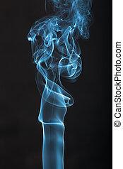 fond, fumée, noir, bleu
