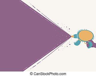 fond, fusil laser, illustration