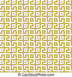 fond, géométrique, doré, conception, blanc, pattern., seamless, labyrinthe, résumé